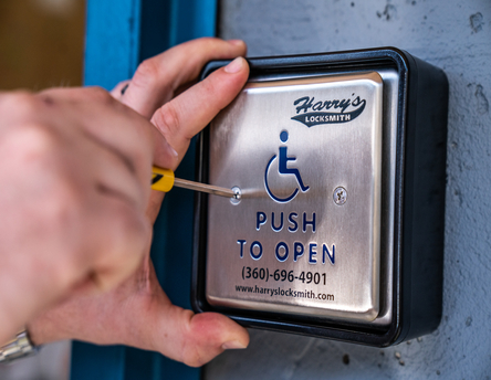ADA Compliant Door with Handicap Automatic Button to the Right - Harry's Locksmith
