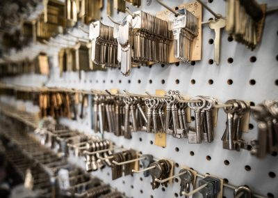 Wall Full of Antique Keys for Cabinets and Doors